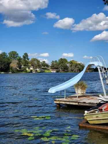 Slide into the lake